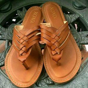 XOXO braided sandals